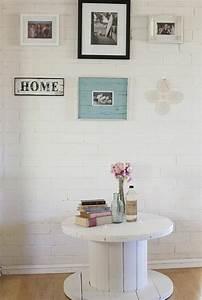 touret peint free table de salon fait avec deux tourets With déco chambre bébé pas cher avec faire envoyer un bouquet de fleur