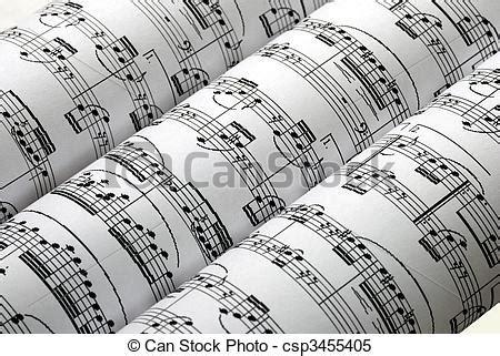 Roeien Muziek by Stock Beelden Van Drie Muziek Bladen Roeien Vrijstaand