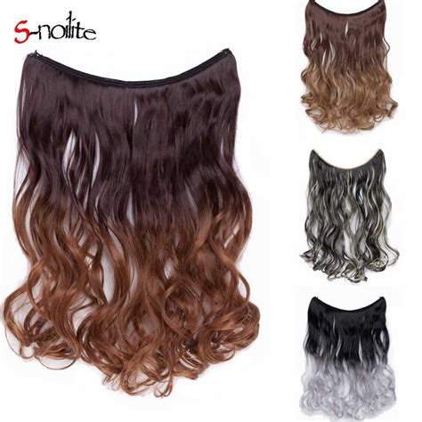 S Noilite 20 Long Curly Wavy Synthetic Hair Fish Line