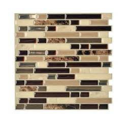 home depot backsplash kitchen smart tiles bellagio keystone 10 00 in x 10 06 in peel and stick mosaic decorative wall tile