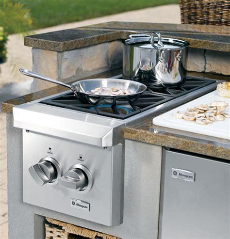 zgu122npss monogram 174 dual burner outdoor cooktop
