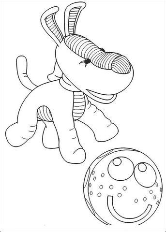 disegno  cane che gioca  la palla da colorare