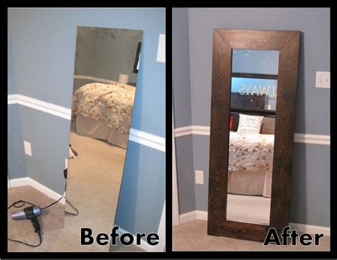 Add A Frame To A Builder Basic Closet Door Mirror And Lean