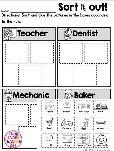 community helpers tools community helpers  worksheets
