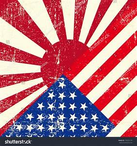 Usa And Japan War Grunge Flag. Stock Vector Illustration ...