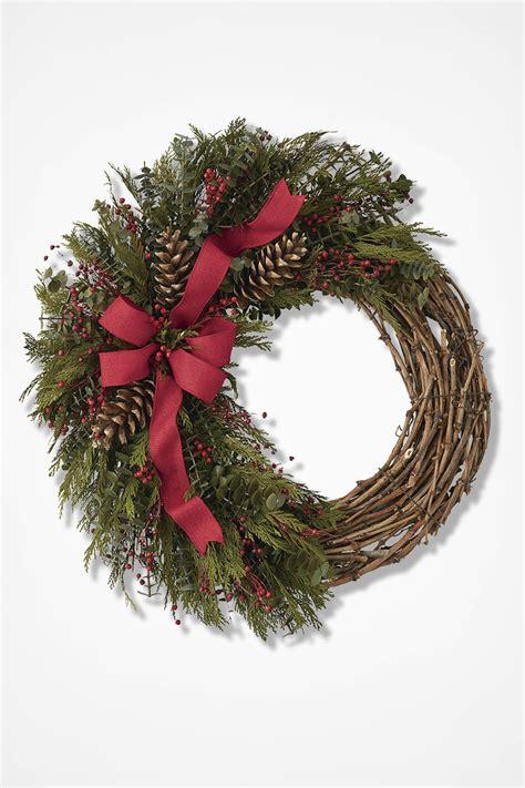 festive garland wreath coldwater creek
