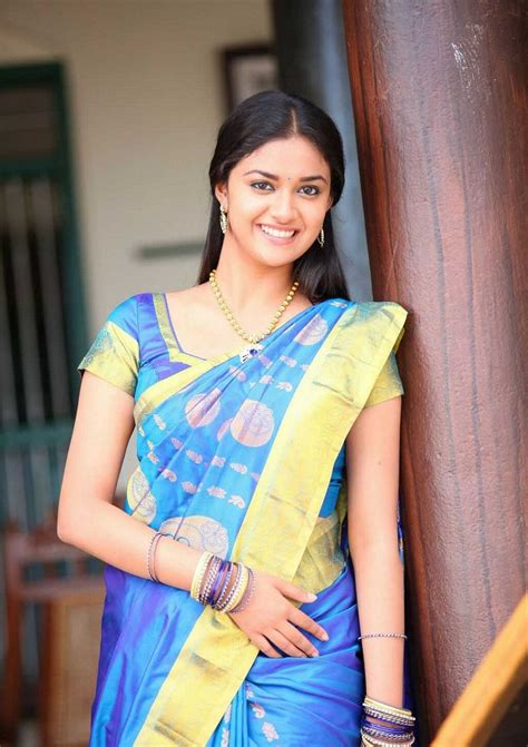 actress keerthi suresh in saree keerthi suresh in half saree photos