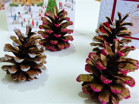 pine cones for crafts easy pine cone crafts christmas glitter kids crafts christmas