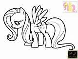 Fluttershy Coloring Sad Pages Kj Newer sketch template