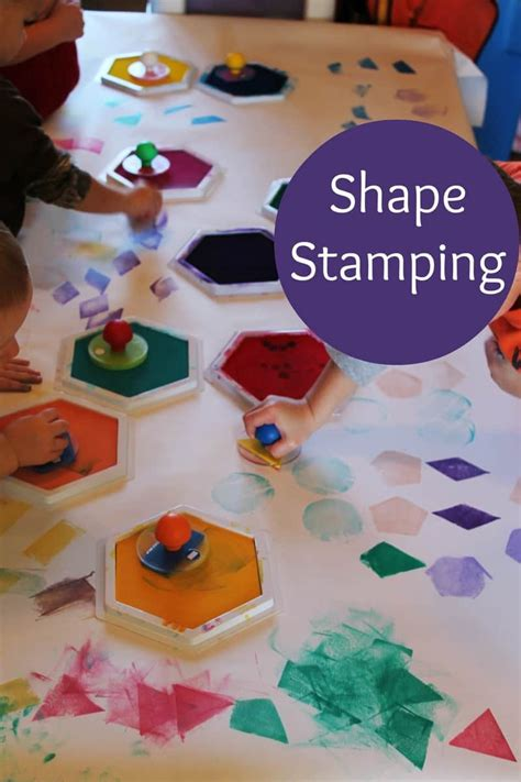 exploring shapes in preschool 467 | shape stamps 8