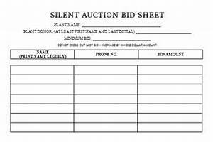 printable silent auction bid sheet template auction pinterest