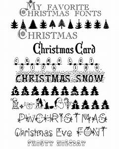 My Favorite Christmas Fonts - A Mouse In My Kitchen - A ...