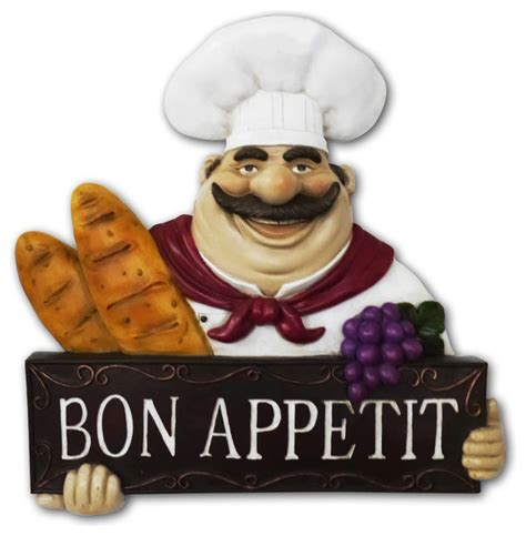 italian chef kitchen wall decor chef kitchen statue bon appetit wall plaque wall decor