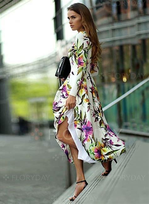 blumen lange blütezeit polyester blumen lange 196 rmel maxi vintage kleider 1011851 floryday kleider