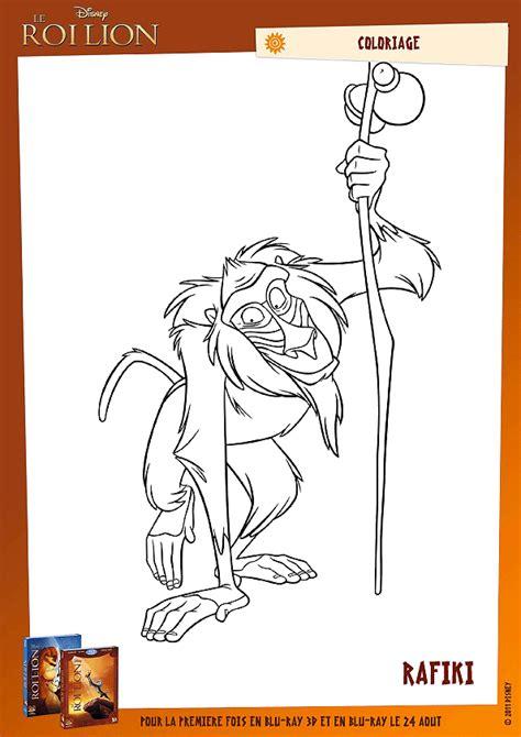 Coloriage Rafiki Le Mandrill Du Roi Lion
