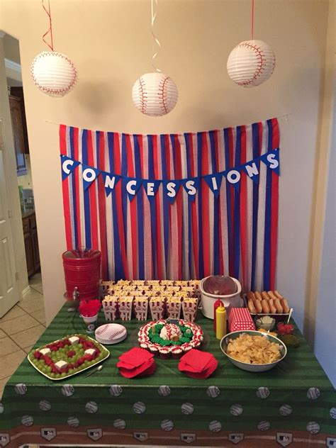 baseball themed birthday party luke  bday