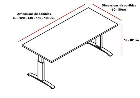 dimensions bureau bureau réglable en hauteur ergonomic master mdd bureaux