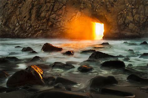 Pfeiffer Beach Arch Sunset | Pfeiffer Beach St Park, Big ...