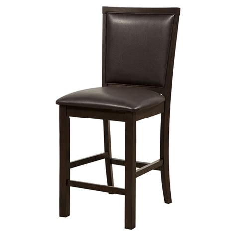 davenport pub chair faux leather espresso dcg stores