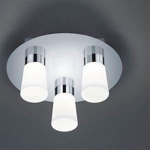 Ip44 Leuchten Badezimmer : trio led badezimmer deckenleuchte nevio 682310306 ~ Michelbontemps.com Haus und Dekorationen