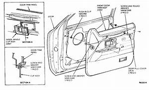 2002 Mercury Cougar Driver Door Latch Repair Diagram
