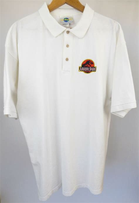 details  genuine rare mens white jurassic park shirt
