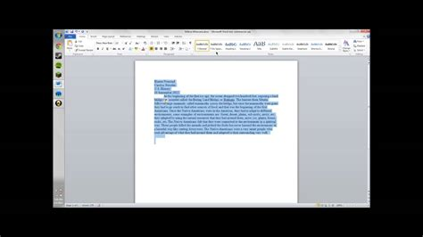 single space  word document youtube