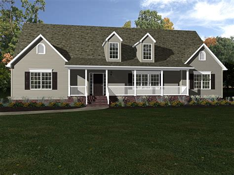 ranch house with wrap around porch beracah homes custom built modular construction