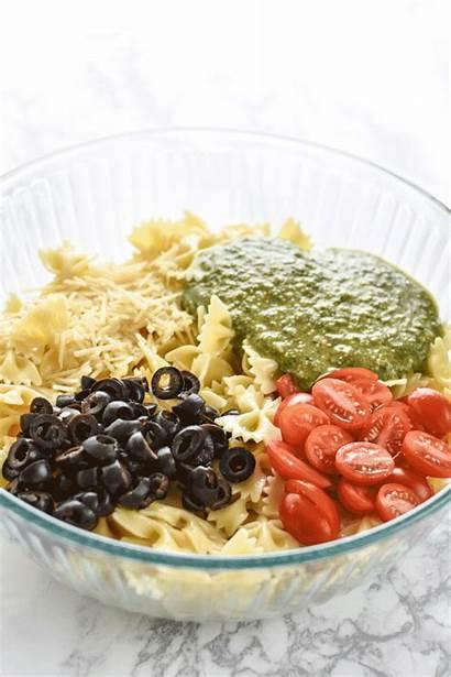 Salad Pasta Pesto Easy Incredibly Ahead Meal