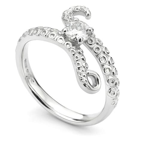 diamond octopus wedding ring crafted by bespoke design