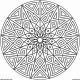 Coloring Geometric Pages Hard Cool Printable Designs Getcolorings Circles sketch template