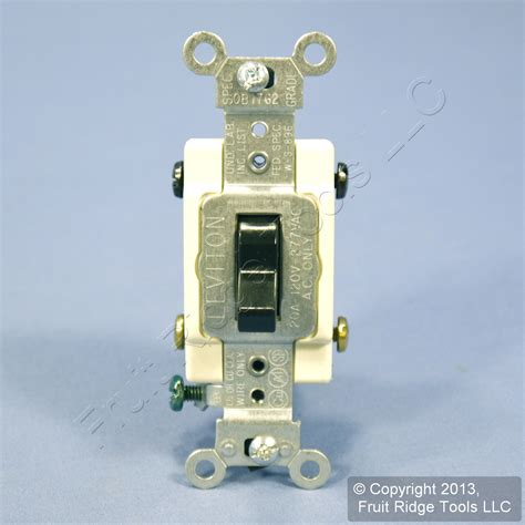 leviton black 4 way commercial toggle wall light switch