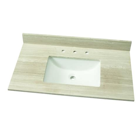 home depot sink tops home decorators collection 37 in w marble single vanity