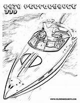 Coloring Motor Boat Boats Racing Popular Clip Coloringhome sketch template