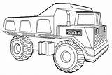 Truck Coloring Dump Tonka Printable Pages Ecoloringpage Trucks Construction sketch template