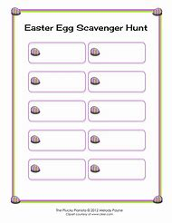 Best scavenger hunt template ideas and images on bing find what easter egg scavenger hunt template maxwellsz
