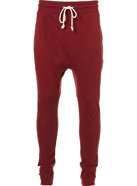 Topman Burgundy Joggers in Red for Men | Lyst