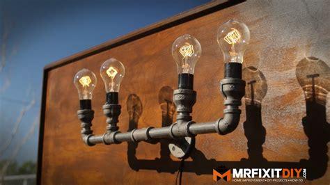 kitchen faucet diy industrial pipe lamp