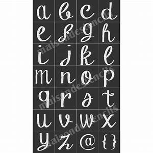 Chalk board hand lettered style lower case alphabet 28 for Chalk stencils letters
