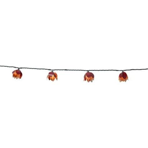 10ct decorative string lights metal flower cover