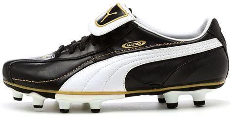 Puma King XL I FG GS Football Boots Cleats in Black