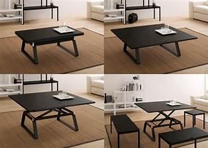 Table De Salon Modulable : notre s lection de tables basses modulables 4 pieds tables chaises et tabourets ~ Teatrodelosmanantiales.com Idées de Décoration