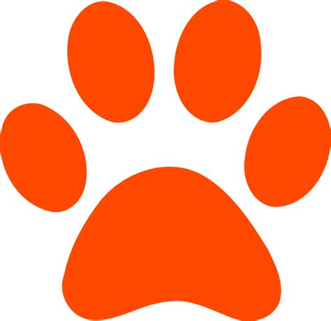 free coloring pages of tiger paw print