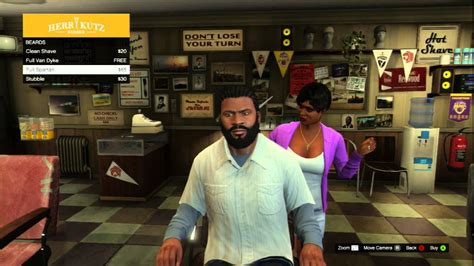 gta v misc purchasing a haircut franklin herr kutz