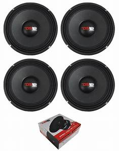 Two Pair Of Ds18 Pro 10 U0026quot  2400w 4 Ohm Midrange Loudspeakers