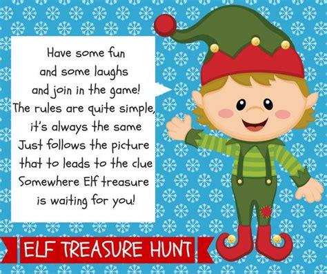 elf hunt treasure printable christmas antics