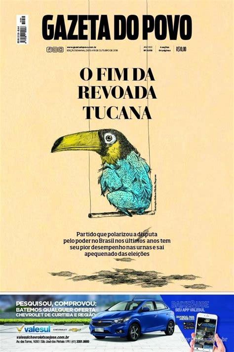 Capa Gazeta do Povo Edição Sábado,13 de Outubro de 2018