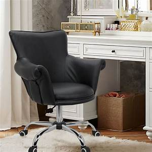 Magshion, Deluxe, Leather, Office, Desk, Chair, Bar, Stool, Beauty, Nail, Salon, Spa, Vanity, Seat, Black