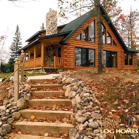 golden eagle log  timber homes log home cabin pictures  custom plan