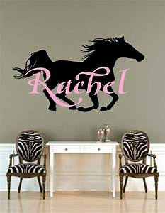 Horse art name decal with by